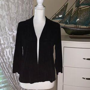 Mark Singer soft black stretchy blazer
